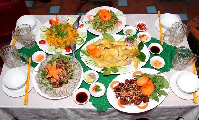 Các món ăn khi được khách đặt bàn tiệc khi có yêu cầu