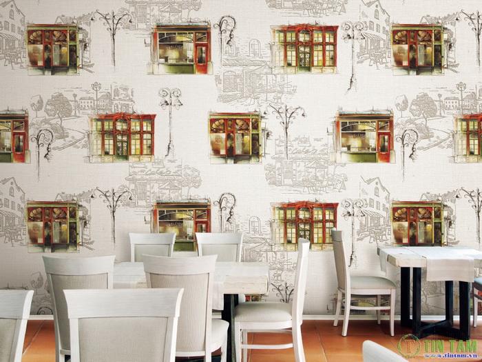 Đến giấy dán tường cũng đẹp