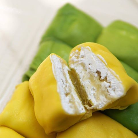Crepe sầu riêng thơm ngon bổ dưỡng bắt mắt