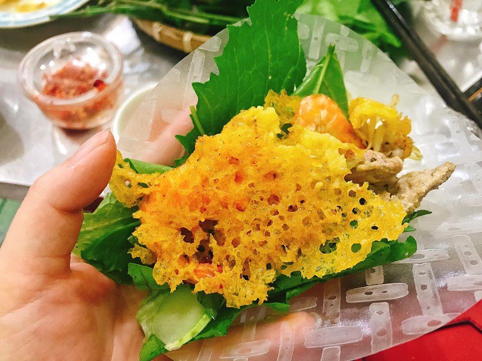 Bánh xèo rau rừng A Đạt