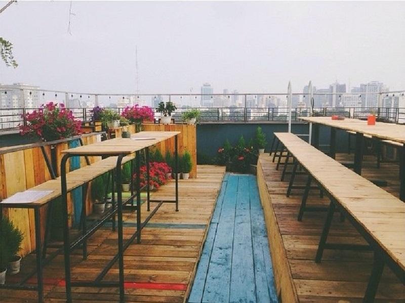"""Mary Jane's The Bar - Quán cà phê sân thượng view """"chất phát ngất"""" ở Quận 1 TP HCM"""
