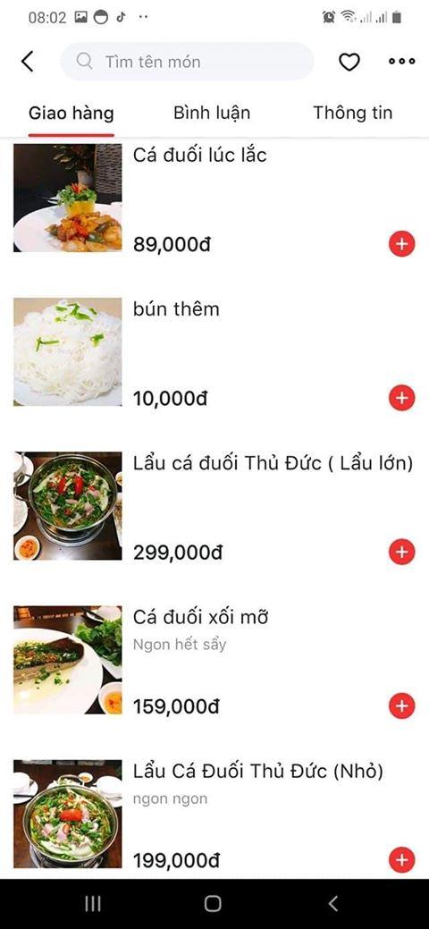 Menu bảng giá lẩu cá đuối tại Lu Lau Dimsim