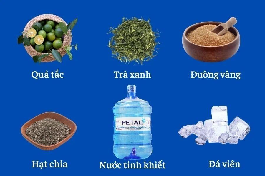 Nguyên liệu trà tắc hạt chia